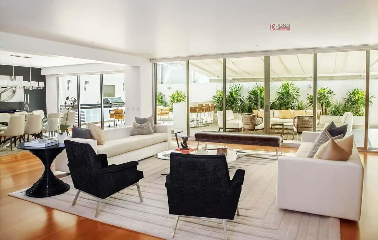 Phong cách thiết kế nội thất biệt thự hiện đại – Xu hướng của năm 2018
