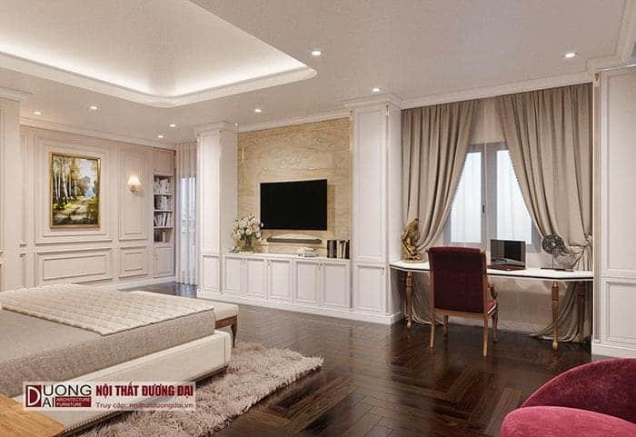 Phòng ngủ master biệt thự Vincom Plaza Sơn La