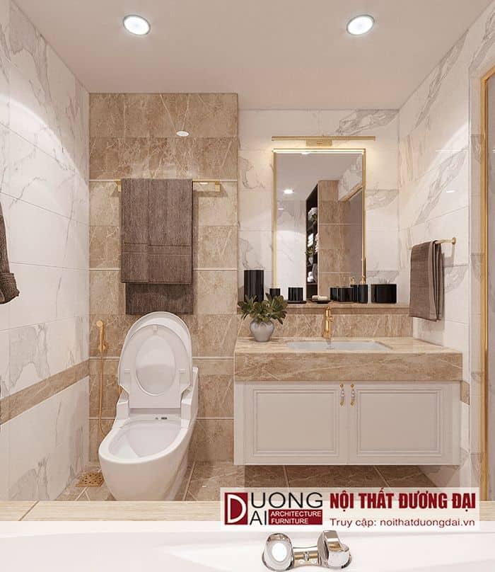 Phòng WC con gái thiết kế kế nội thất biệt thự tân cổ điển