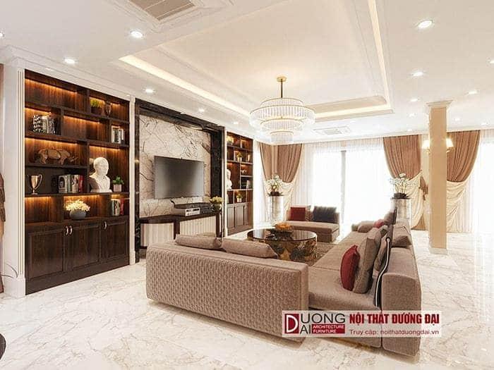 Phong các đặc trưng thiết kế nội thất biệt thự tân cổ điển Vincom Plaza Sơn La – Bác Khánh
