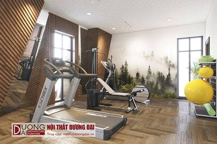 Phòng gym nội thất biệt thự Sơn La
