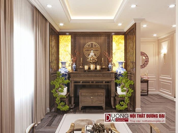 Phòng thờ nội thất biệt thự Sơn La