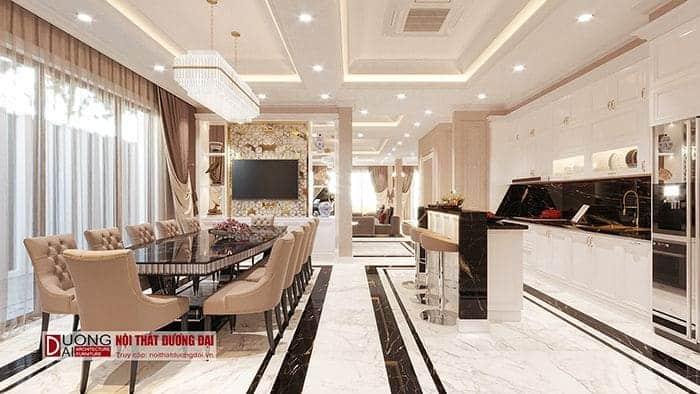 Thiết kế nội thất biệt thự tân cổ điển - Phòng bếp