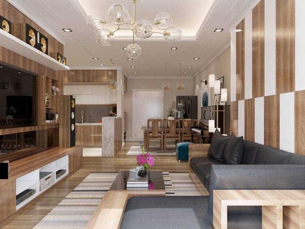 Thiết kế nội thất phòng khách sang trọng, tinh tế với chi phí hợp lý