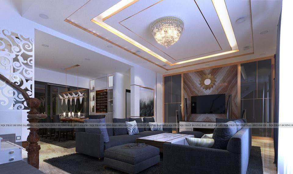 Thiết kế nội thất biệt thự tại Nghệ An hiện đại và sang trọng