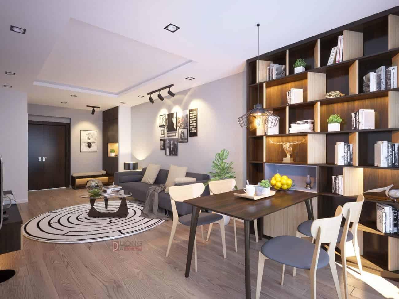 Thiết kế nội thất chung cư Goldsilk Compelx hiện đại giá rẻ