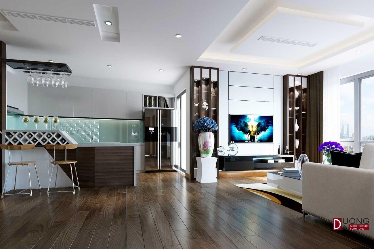 Thiết kế nội thất chung cư Micpec Tower – Đẹp và sang trọng