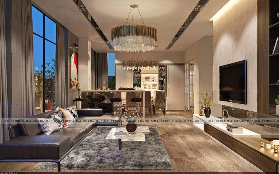 Thiết kế nội thất biệt thự tại Hải Phòng Waterfront City sang trọng