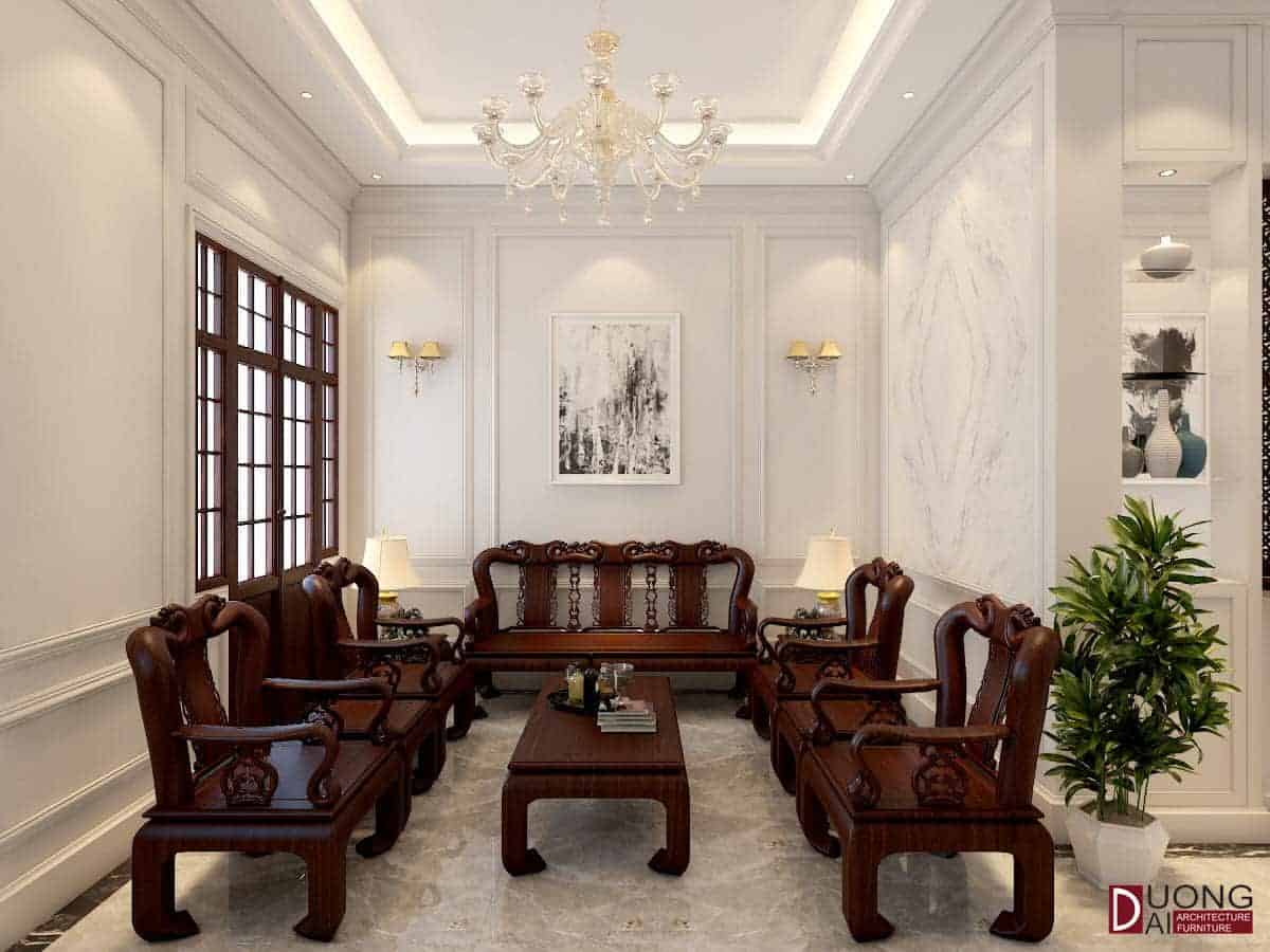 Thiết kế nội thất biệt thự tại Hà Nội nhà anh Tuấn Anh (Nghi Tàm)