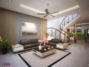 Thiết kế nội thất nhà phố tại Hà Nam (chị Hoa) hiện đại giá rẻ