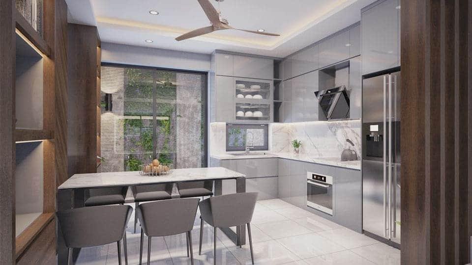 Thiết kế và thi công tủ bếp tại Hà Nội - Đẹp - Giá rẻ