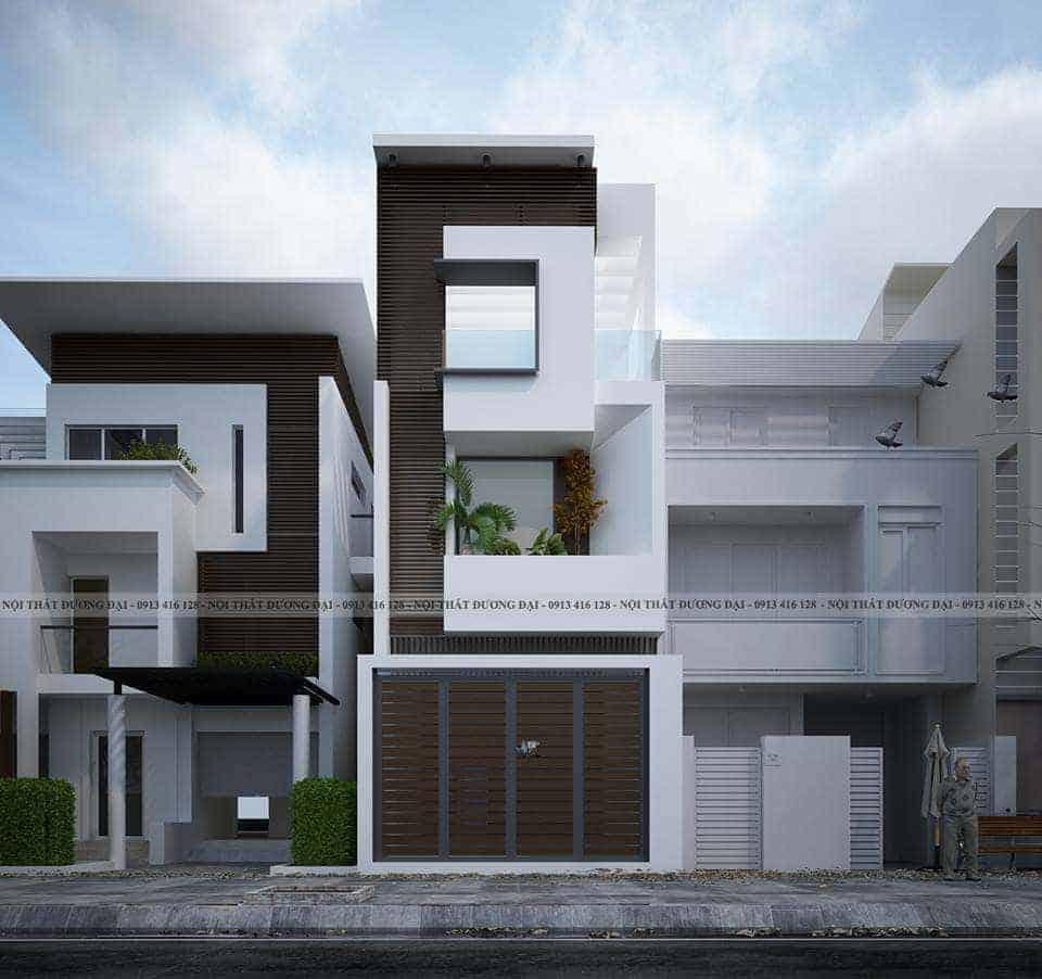 Thiết kế kiến trúc nhà phố tại Cao Bằng mặt tiền cực đặc biệt