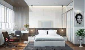 Thu hút với thiết kế nội thất phòng ngủ chung cư Park Hill