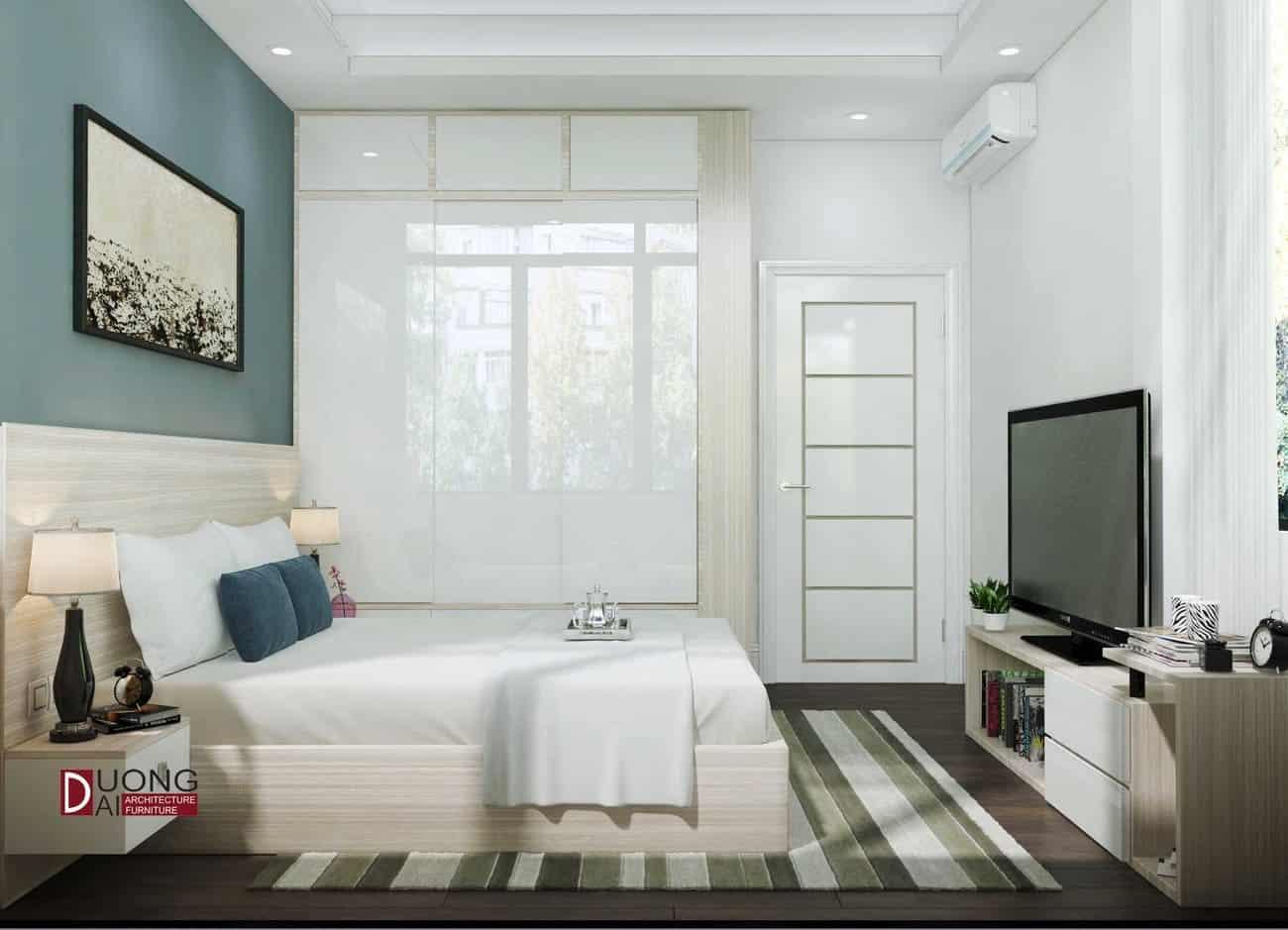 Mẫu phòng ngủ đầy thanh khiết với nội thất màu trắng tinh khôi