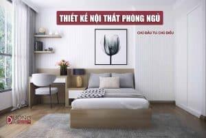 Thiết kế nội thất phòng ngủ nhà phố đẹp nhẹ nhàng và tinh tế