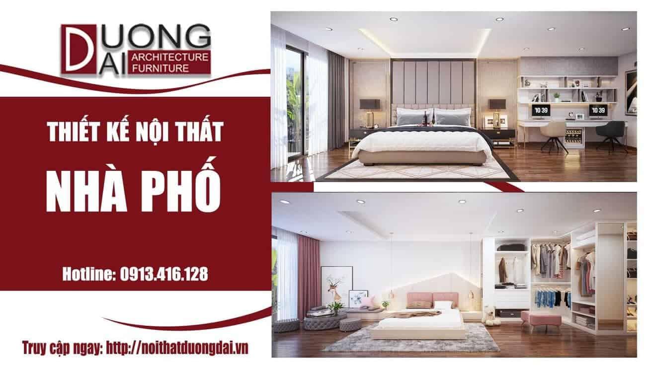 Háo hức với mẫu thiết kế nội thất phòng ngủ nhà phố Hà Nội