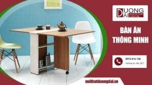 Bàn ăn thông minh là giải pháp cho các căn phòng có diện tích nhỏ