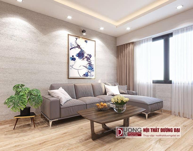 Sofa vải cho phòng khách hiện đại