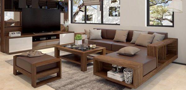 Sofa bốn mùa- Hiện đại giá rẻ - Bàn ghế phòng khách gỗ óc chó