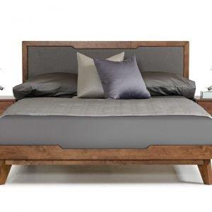 Giường ngủ gỗ óc chó hiên đại - Giá rẻ - Có tab đầu giường