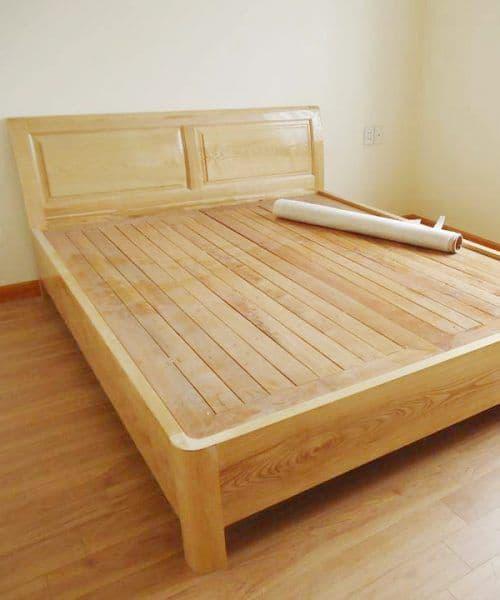 Kết quả hình ảnh cho giường ngủ gỗ sồi ngà
