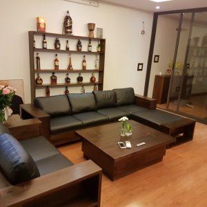 Mẫu Sofa gỗ Óc Chó sang trọng