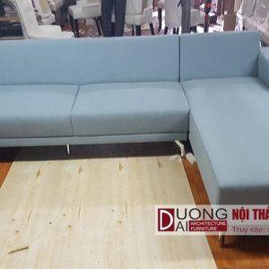 Sofa nỉ chữ L màu Xanh Dương kiểu dáng hiện đại, sang trọng