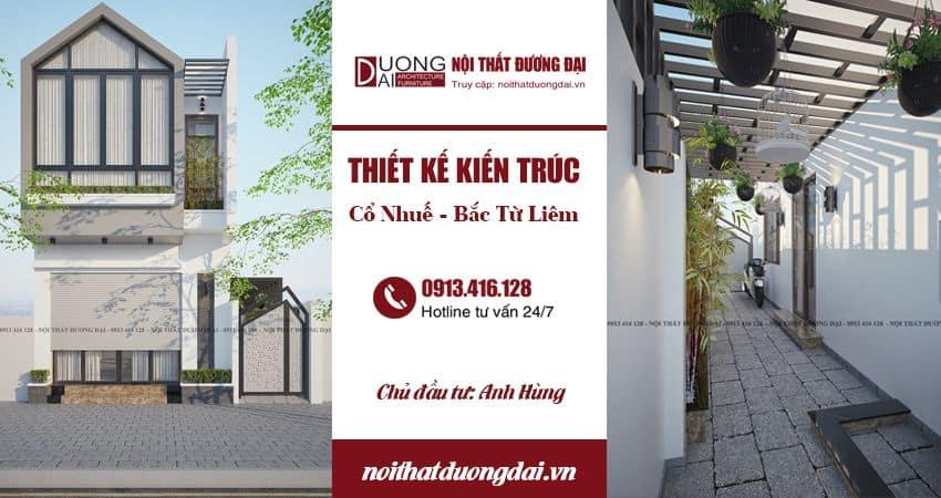Thiết kế kiến trúc nhà phố tại Hà Nội - Cổ Nhuế 2 - Bắc Từ Liêm