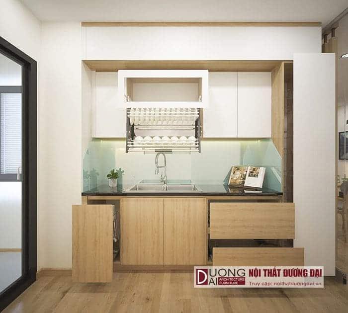 Thiết kế nội thất chung cư 45m2 hiện đại, giá rẻ nhưng vẫn rộng rãi
