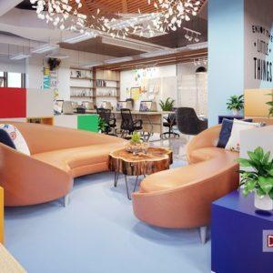 Thiết kế nội thất văn phòng CleverAds – Đối tác của Google và Facebook