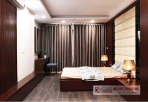 [Hình ảnh thực tế] Thi công nội thất phòng ngủ bằng gỗ An Cường