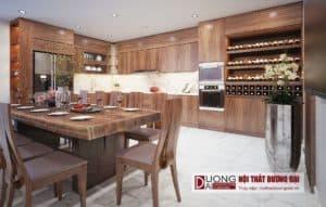 Thiết kế nội thất nhà phố anh Tráng Quảng Ninh - Phòng bếp