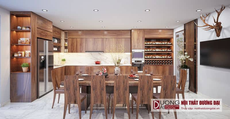 Phòng bếp nhà phố với sự tiện nghi và vô cùng sang trọng