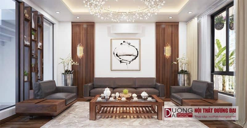 Thiết kế nội thất phòng khách nhà phố chị Hương Bắc Giang