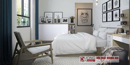 Phòng ngủ phong cách tối gian Scandinavian