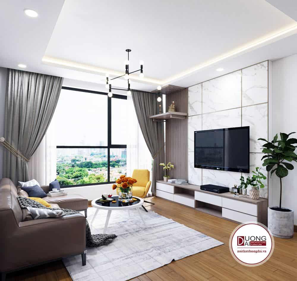 Chiếc kệ tivi thiết kế đơn giản nhưng đa năng nhà anh Thọ - Ecolake View.