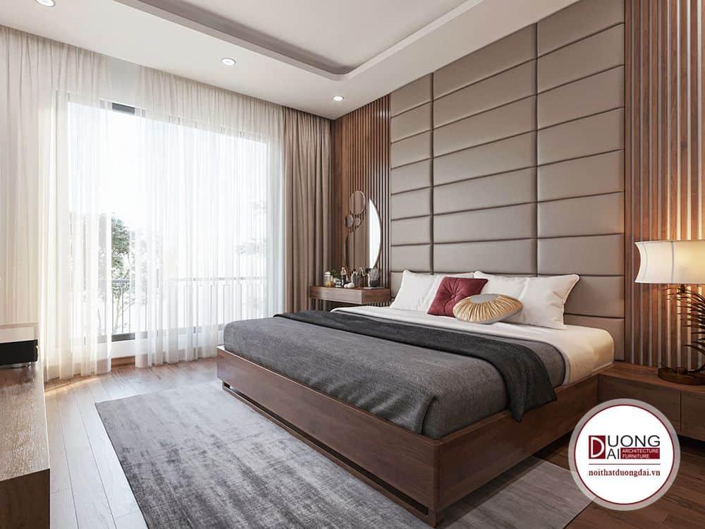 Căn phòng để cao anh sáng tự nhiên giúp dự án thiết kế nội thất Bắc Ninh được gia chủ yêu thích và ngợi khen.