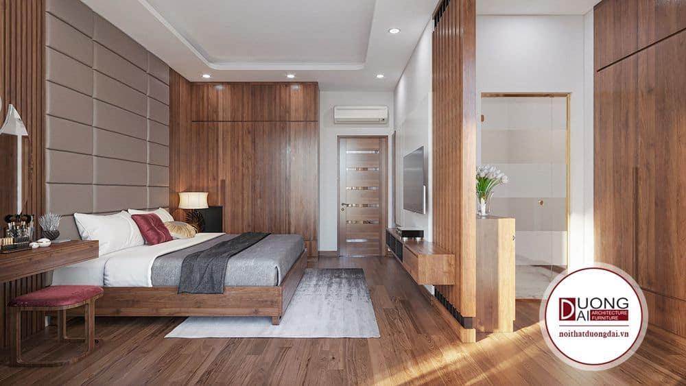 Phòng ngủ Master được chia làm 2 không gian chính.