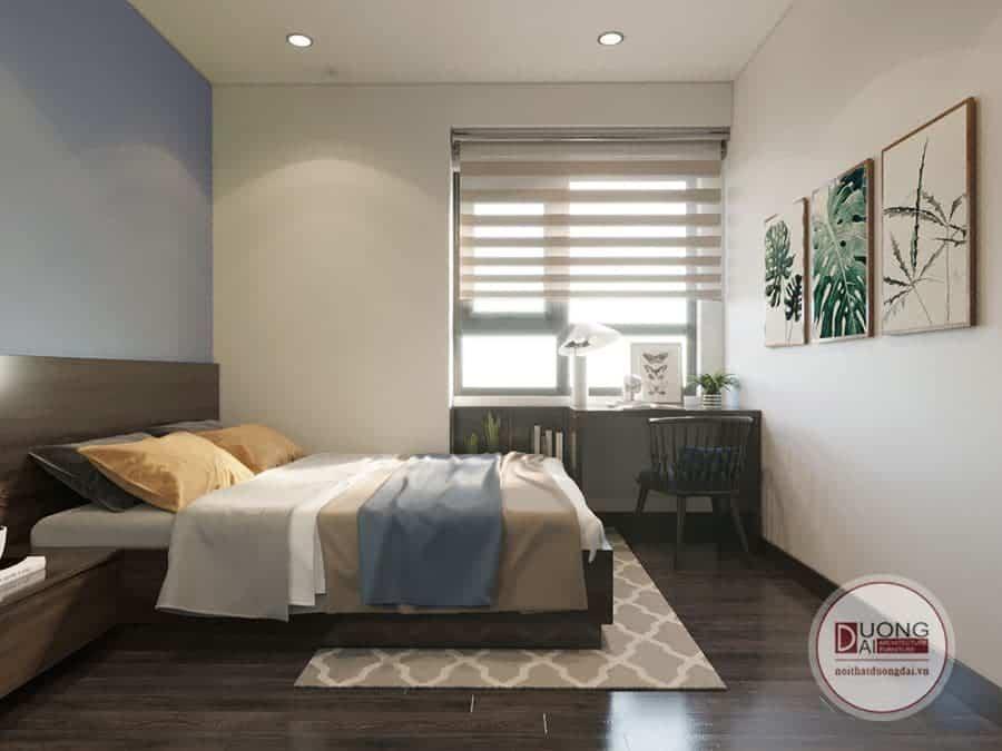 Không gian phòng ngủ căn hộ Homeland.