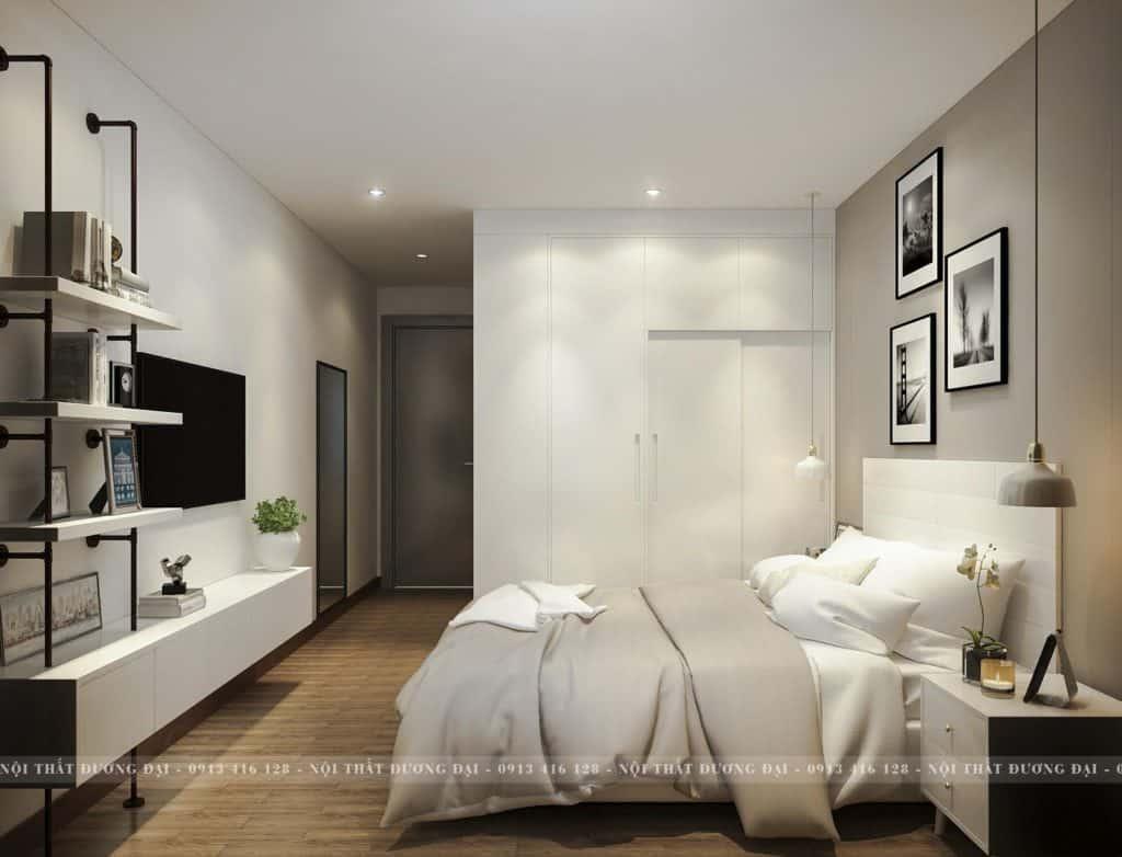 Phòng cách thiết kế hài hòa về màu sắc và sản phẩm.