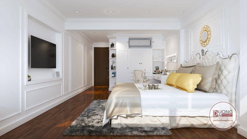 Phòng ngủ với phong cách tân cổ điển