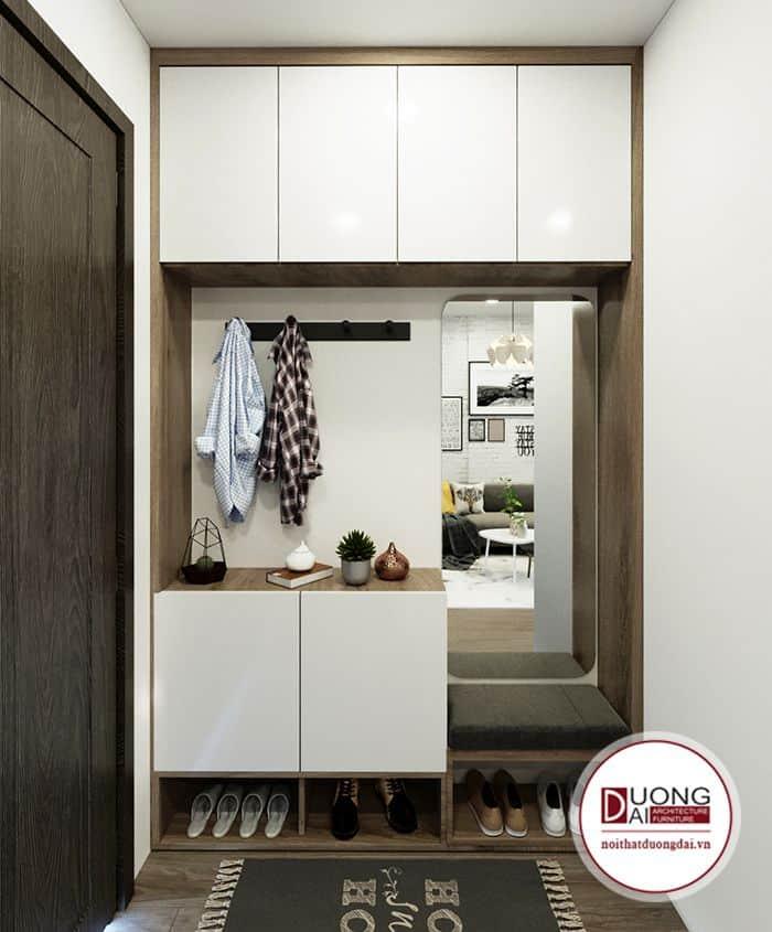 Mẫu tủ đơn giản hiện đại nhà anh Tuấn Anh chung cư 70 Nguyễn Đức Cảnh.
