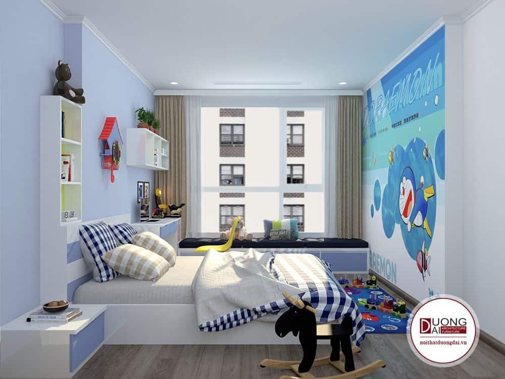 Phòng ngủ của trẻ nhỏ cần trang trí sinh động để kích thích sự sáng tạo.