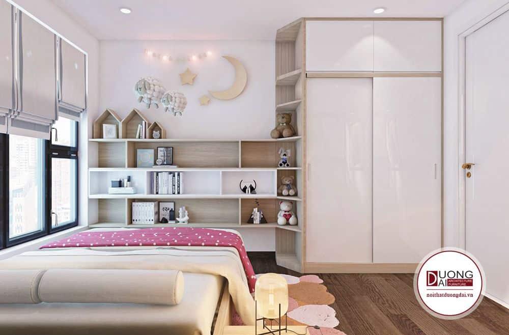Gam màu hồng nhã nhặn thường thấy ở các phòng ngủ bé gái.
