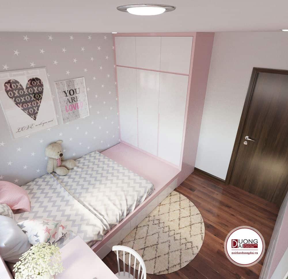 Nhưng chiếc giường ngủ kết hợp tủ quần áo sẽ giúp cho bé có nhiều không gian vui đùa hơn.