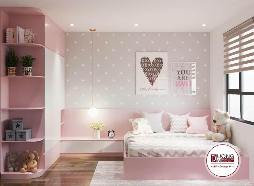 Màu sơn phòng ngủ sẽ đảm bảo được về tính cách và sự phán triển của trẻ nhỏ.