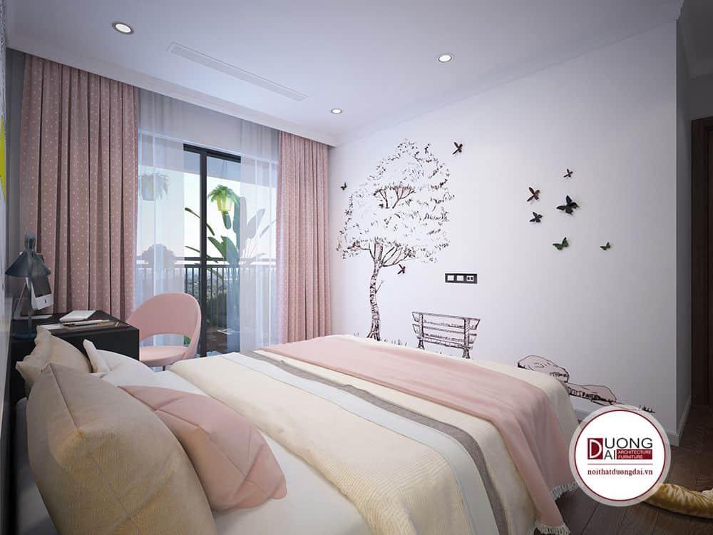 Với phòng ngủ hiện đại, cần các màu sắc tươi sáng, tươi vui, bắt mắt.