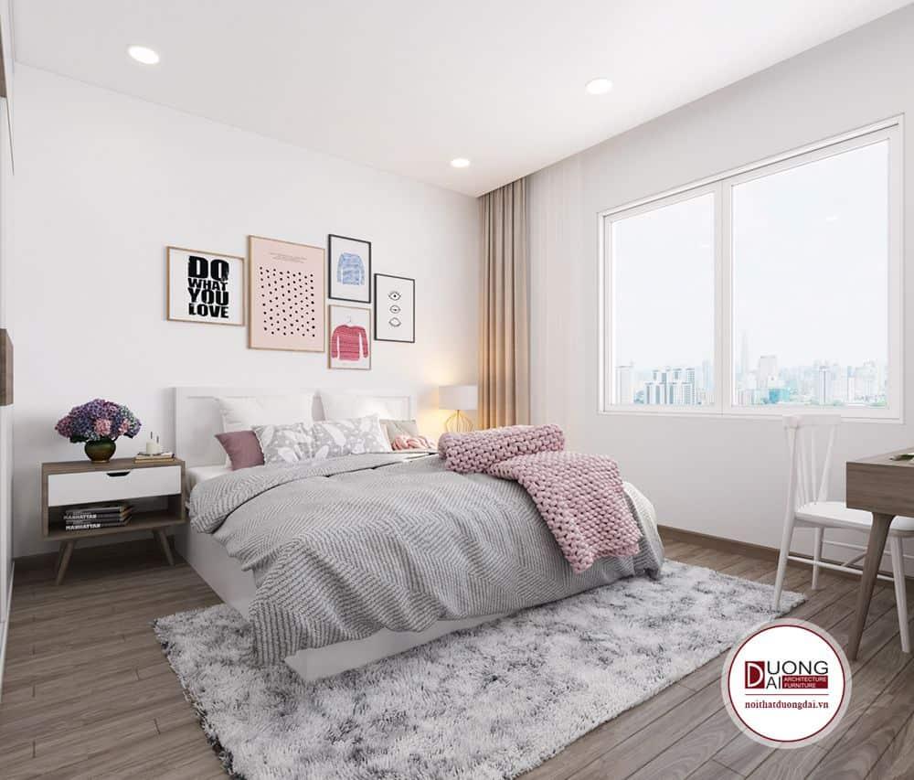 Sự đồng bộ về kiểu dáng và màu sắc khiến cho căn phòng ngủ của con độc đáo và ấn tượng hơn với