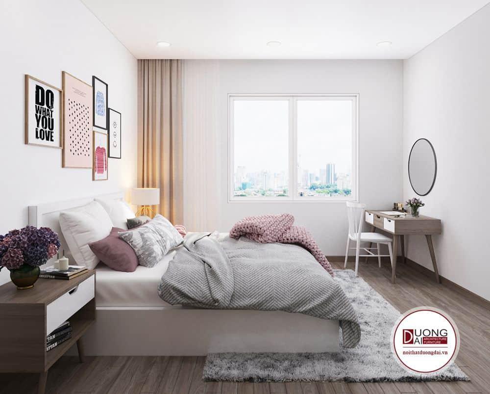 Phòng ngủ cho bé gái đơn giản với phong cách Scandinavian.