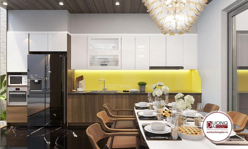 Thiết kế nội thất phòng bếp CĐT: Anh Hùng Nhà Phố 4 Tầng 320m2
